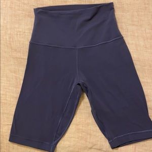 "Align Super High Rise Short 10"" - midnight orchid"